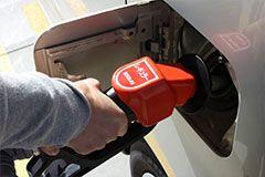 燃料切れで車が停止